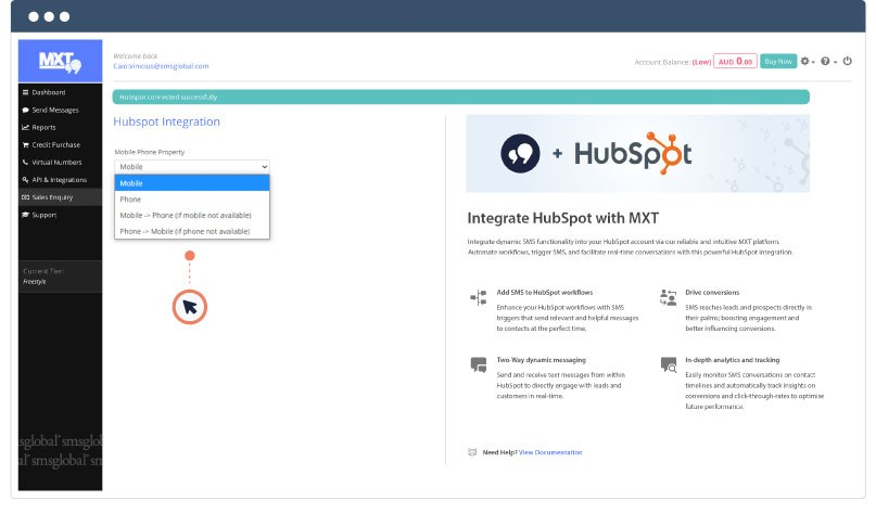 Hubspot Help Documentation